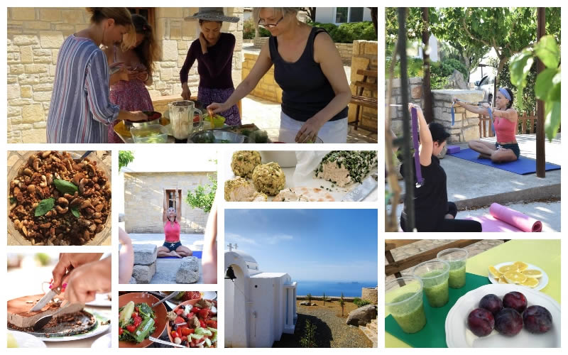 8 Days Macrobiotic Raw Vegan Detox, Cooking Workshop, and Yoga Retreat in Crete, GREECE